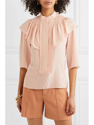 Chloe ruffled silk-crepe blouse