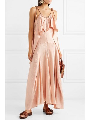 Chloe ruffled silk-jacquard maxi dress