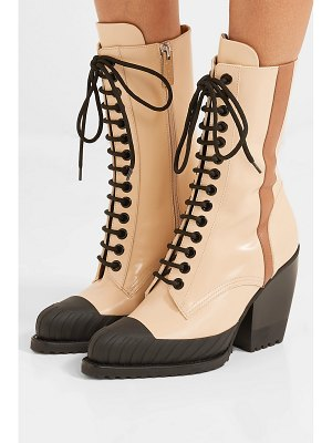 Chloe rylee glossed-leather ankle boots