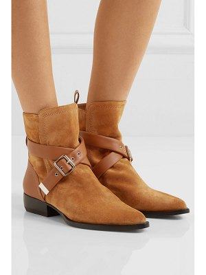 Chloe rylee suede and leather ankle boots