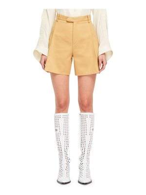 CHLOE Safari-Style Zip-Fly Cotton Gabardine Shorts