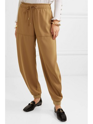Chloe satin-jersey tapered track pants