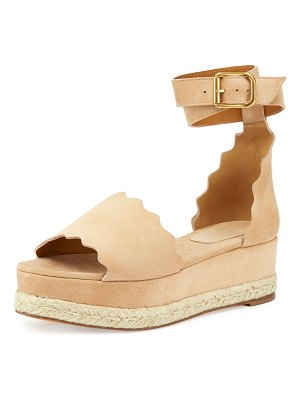 Chloe Scalloped Platform Espadrille Sandals