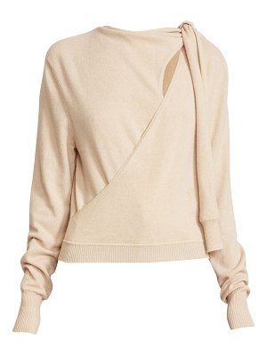 Chloe shoulder-tie cashmere sweater