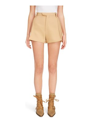 Chloe side pleat wool & silk blend shorts