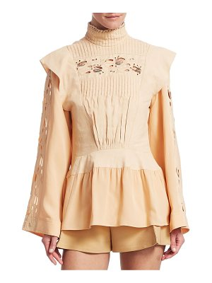 CHLOE Silk Victorian Long-Sleeve Top