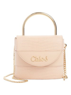 Chloe small aby lock lizard embossed leather shoulder bag