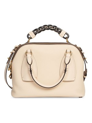 Chloe small daria leather satchel