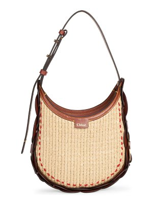 Chloe small darryl woven raffia hobo bag