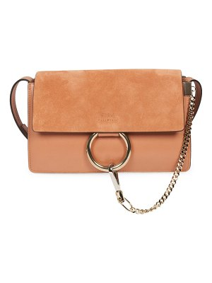 Chloe small faye leather & suede shoulder bag