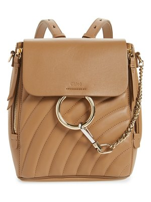 Chloe small faye quilted leather backpack