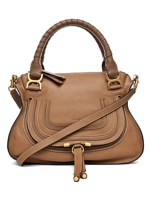 Chloe Small Marcie Grained Leather Satchel
