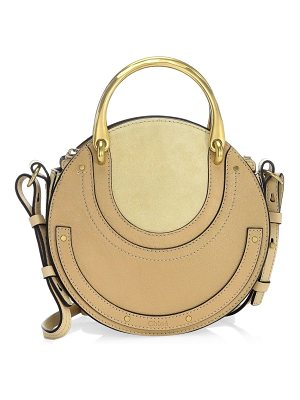 CHLOE Small Pixie Leather And Suede Bag
