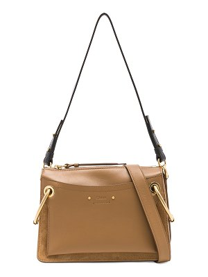 Chloe Small Roy Calfskin & Suede Shoulder Bag