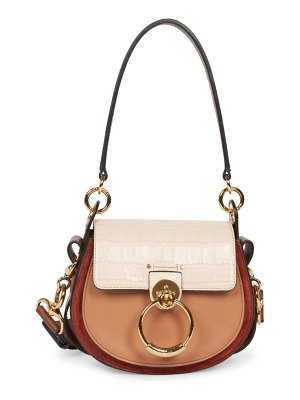 Chloe small tess colorblock leather saddle bag