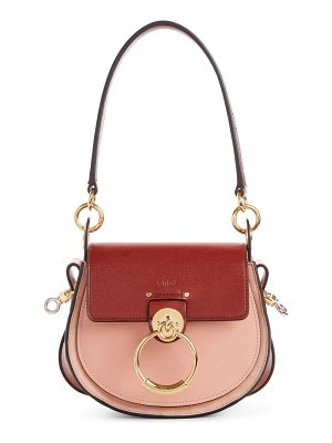Chloe small tess colorblock leather shoulder bag