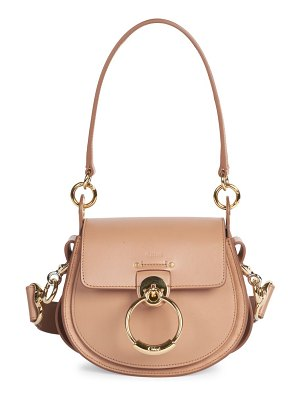 Chloe small tess leather saddle bag