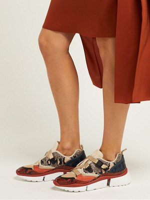 Chloe sonnie raised sole low top trainers