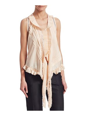 CHLOE Stretch Silk Ruffle Blouse