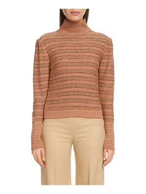Chloe stripe metallic wool sweater