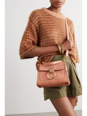 Chloe tess day mini textured and smooth leather shoulder bag