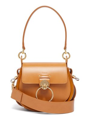 Chloe tess small leather and suede cross-body bag