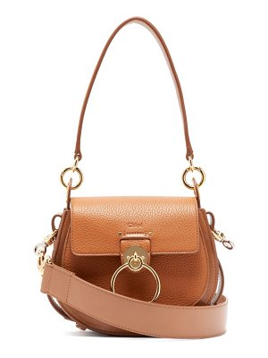Chloe tess small textured leather cross body bag