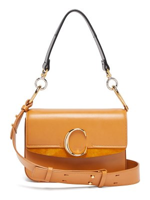 Chloe the c leather shoulder bag