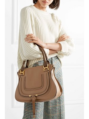 Chloe the marcie medium textured-leather tote