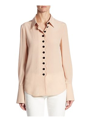 CHLOE Silk Button-Down Blouse