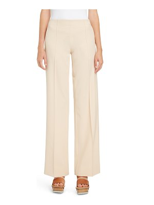 Chloe wide leg stretch wool trousers
