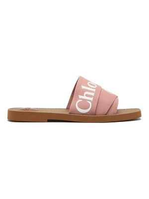 Chloe woody canvas and leather sandals