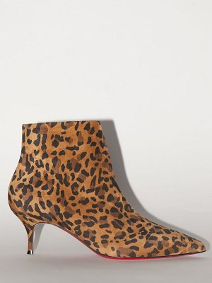 Christian Louboutin 55mm exclusive so kate print suede boots