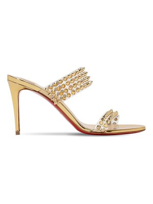 Christian Louboutin 85mm spikes only plexi & leather sandals