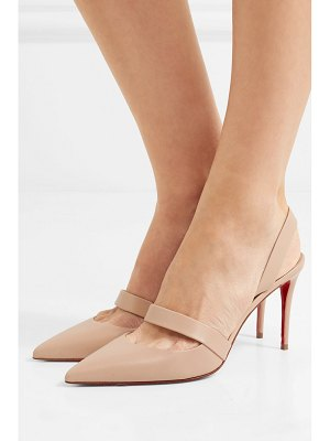 Christian Louboutin actina 85 leather slingback pumps