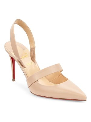 CHRISTIAN LOUBOUTIN Actina 85 Nappa Leather Slingback Pumps