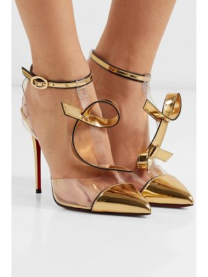 Christian Louboutin alta firma 100 appliquéd pvc and metallic leather pumps
