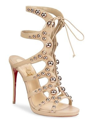 CHRISTIAN LOUBOUTIN Amazoubille Leather Stud Sandals