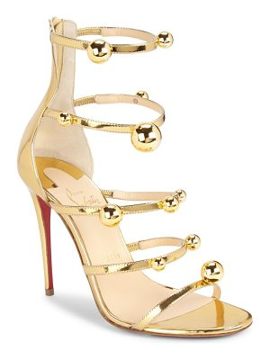 Christian Louboutin atonana metallic leather sandals