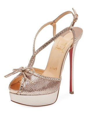 CHRISTIAN LOUBOUTIN Balavenezia Metallic Platform Red Sole Pump
