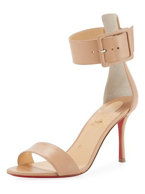 Christian Louboutin Blade Runana Ankle-Wrap Red Sole Sandal
