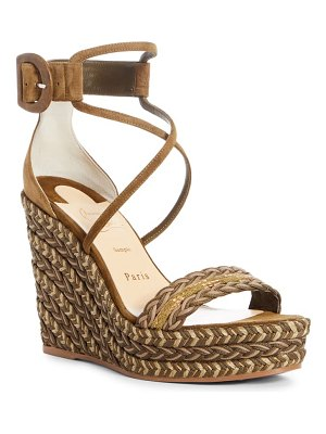 Christian Louboutin bodrum braided wedge sandal