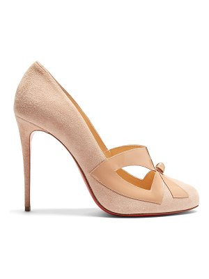 Christian Louboutin Bow Me Dear 115 suede pumps