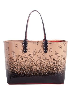 Christian Louboutin cabata degrade patent leather tote