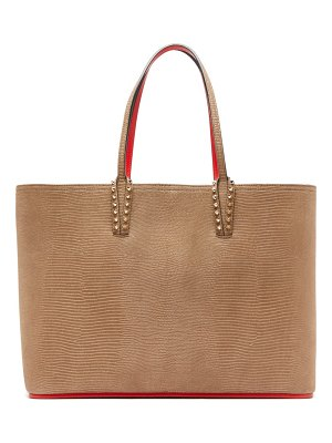 Christian Louboutin cabata medium snake effect nubuck tote bag
