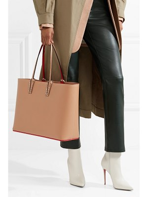Christian Louboutin cabata spiked textured-leather tote