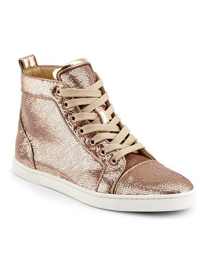 CHRISTIAN LOUBOUTIN Metallic High-Top Sneakers