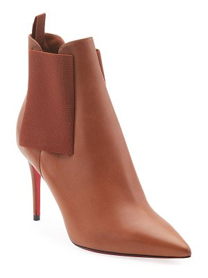 Christian Louboutin Carnababy Leather Red Sole Booties