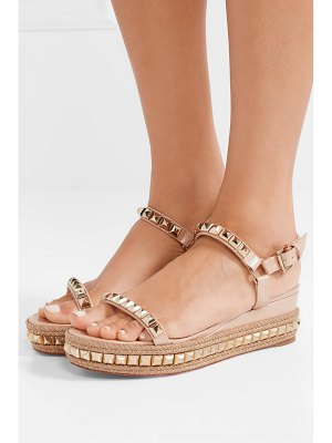 Christian Louboutin cataclou 60 embellished patent-leather wedge espadrille sandals