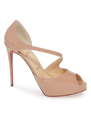 Christian Louboutin catchy peep toe pump